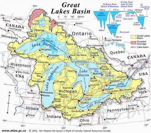 Map Of Great Lakes Canada Discover Canada with these 20 Maps In 2019 Ideas Great Lakes Map