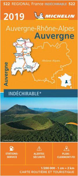 Map Of Limousin France Michelin Regional 522 Auvergne Limousin Wetterfeste Karte 1 200 000