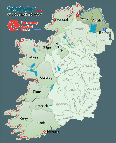 Map Of Longford Ireland Wild atlantic Way Map Ireland In 2019 Ireland Map Ireland