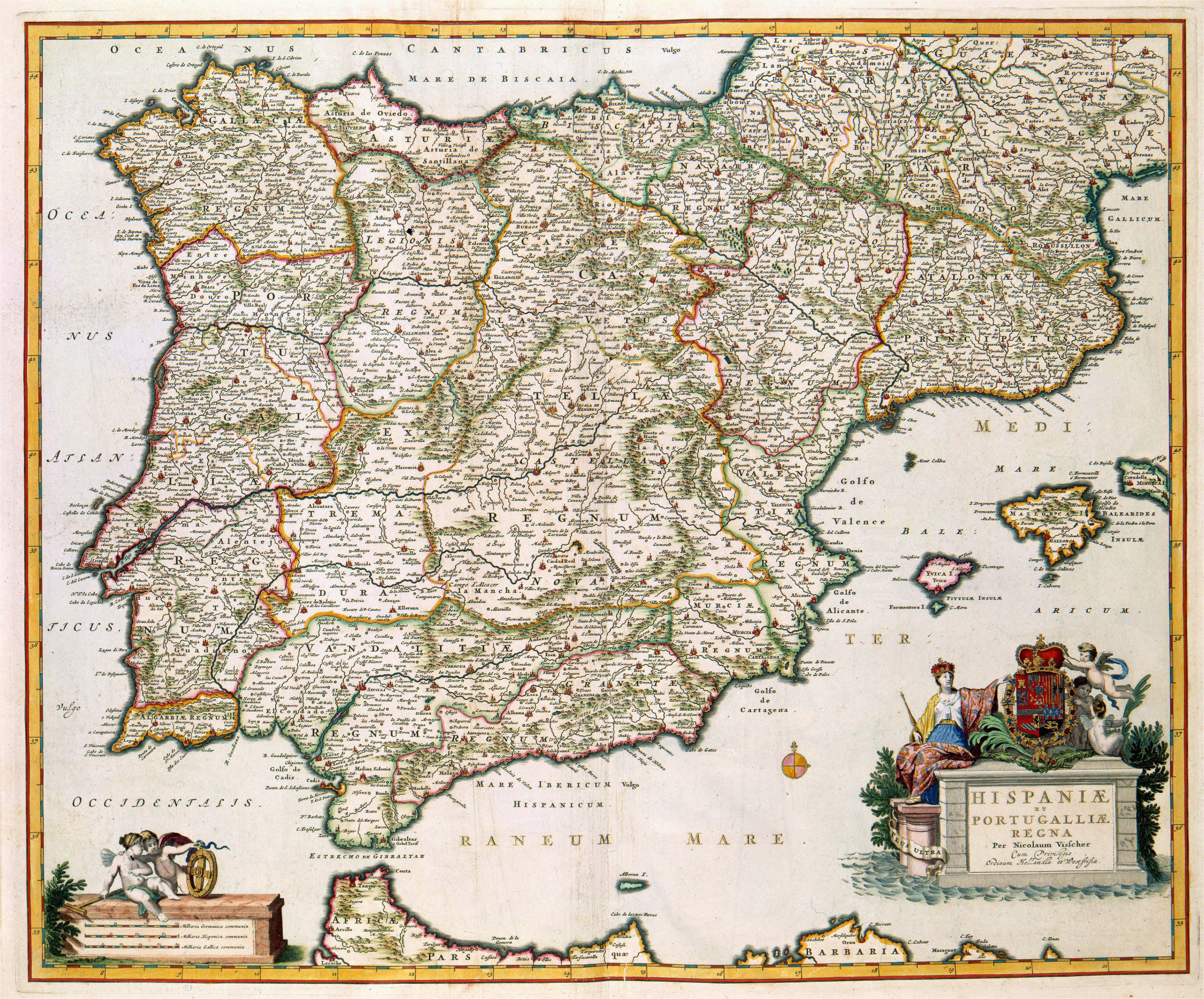 Map Of Medieval Spain History Of Spain Wikipedia