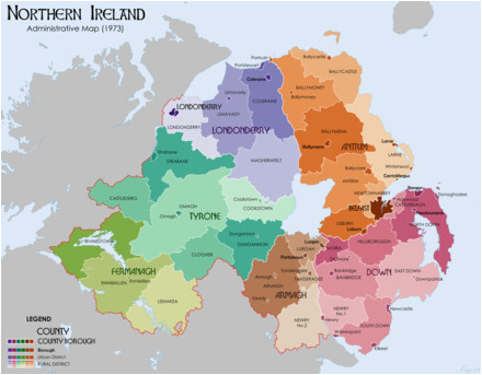 Map Of N Ireland List Of Rural and Urban Districts In northern Ireland Revolvy