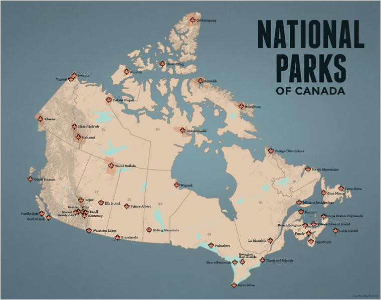 Map Of National Parks Canada National Parks Best Maps Ever