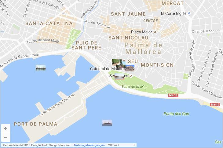 Map Of Palma De Mallorca Spain Sehenswurdigkeiten In Palma De Mallorca