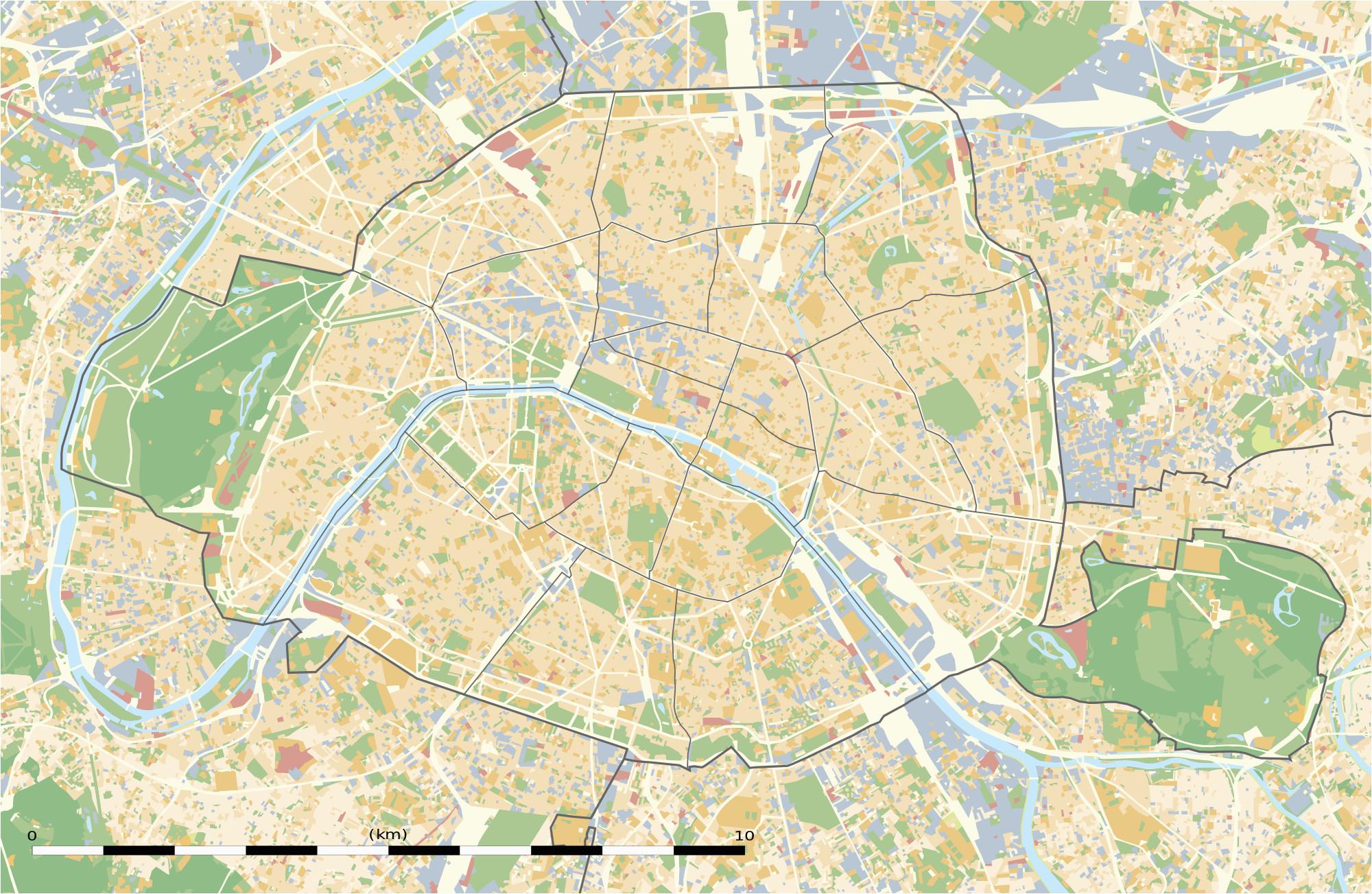 Map Of Paris France Arrondissements Maps Of Paris Wikimedia Commons