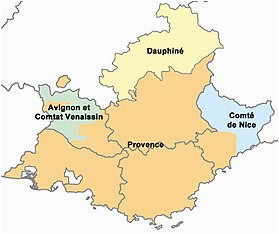 Map Of Provence Region France Provence Wikipedia