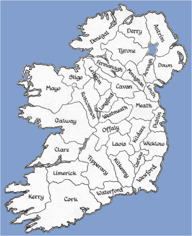 Map Of Republic Of Ireland Counties Counties Of the Republic Of Ireland