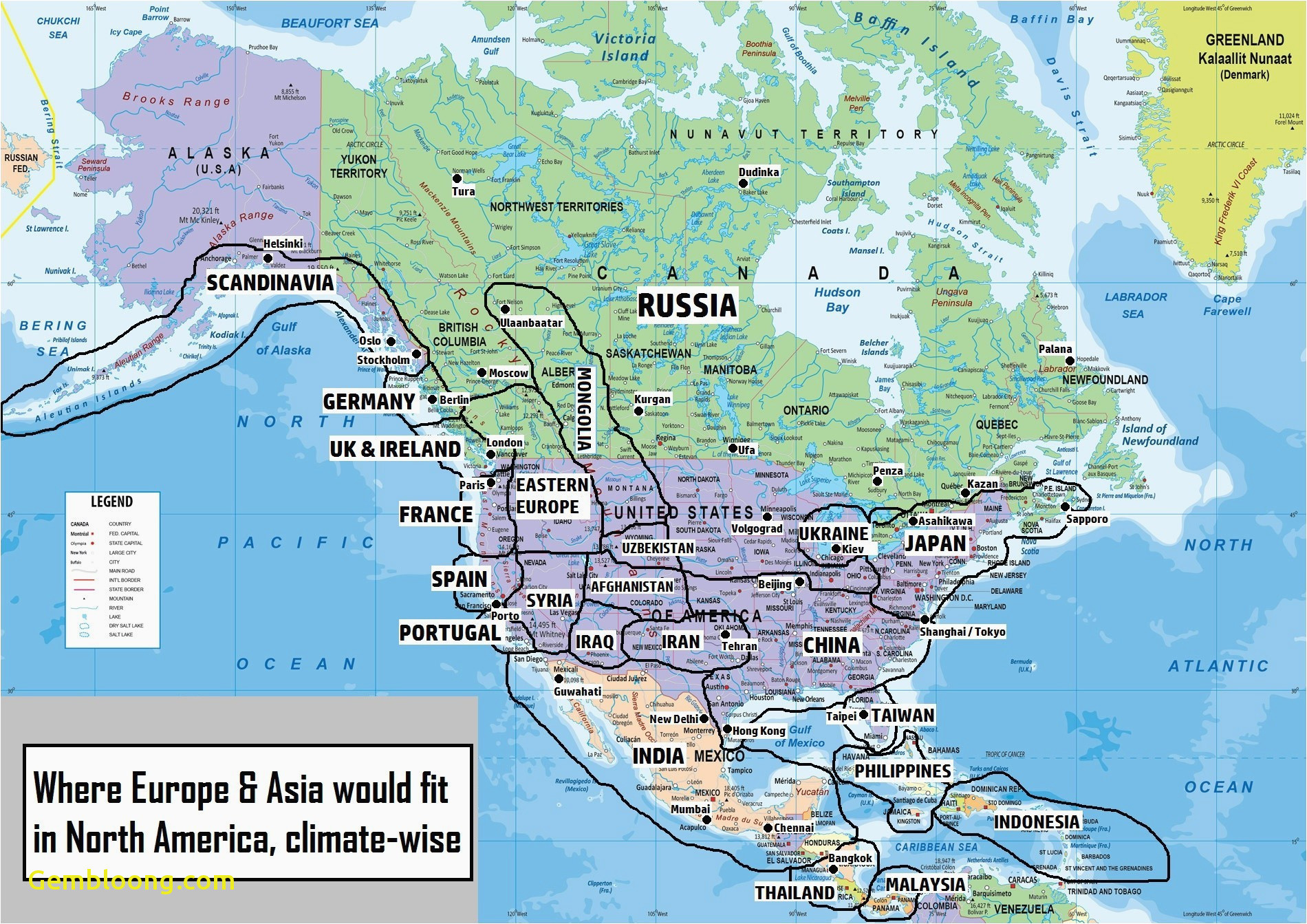 Map Of Usa and Canada with States and Cities Map Of Usa and Canada Image Of Usa Map