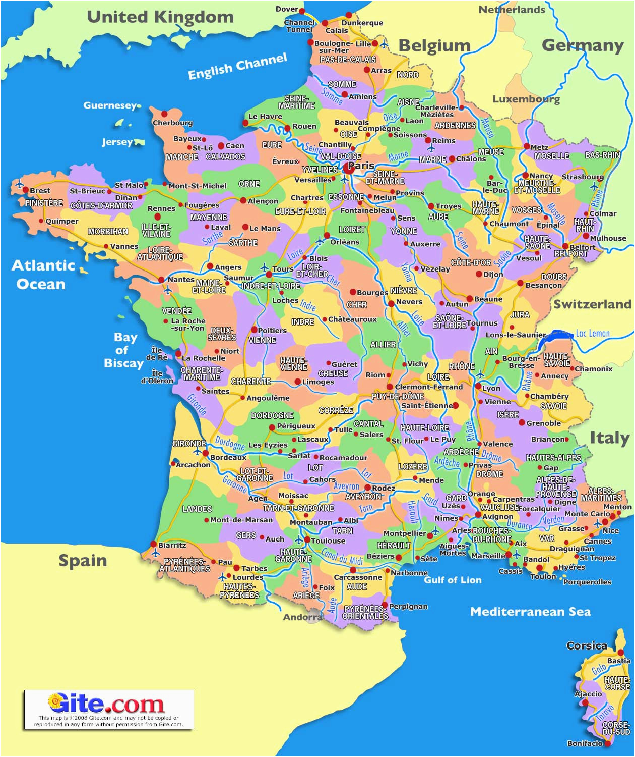 Map south France Coast Guide to Places to Go In France south Of France and Provence