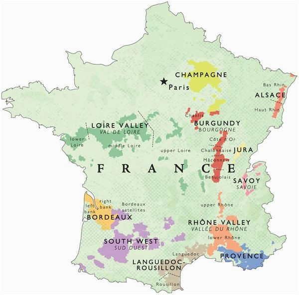 Maps Of France Regions Wine Map Of France In 2019 Places France Map Wine