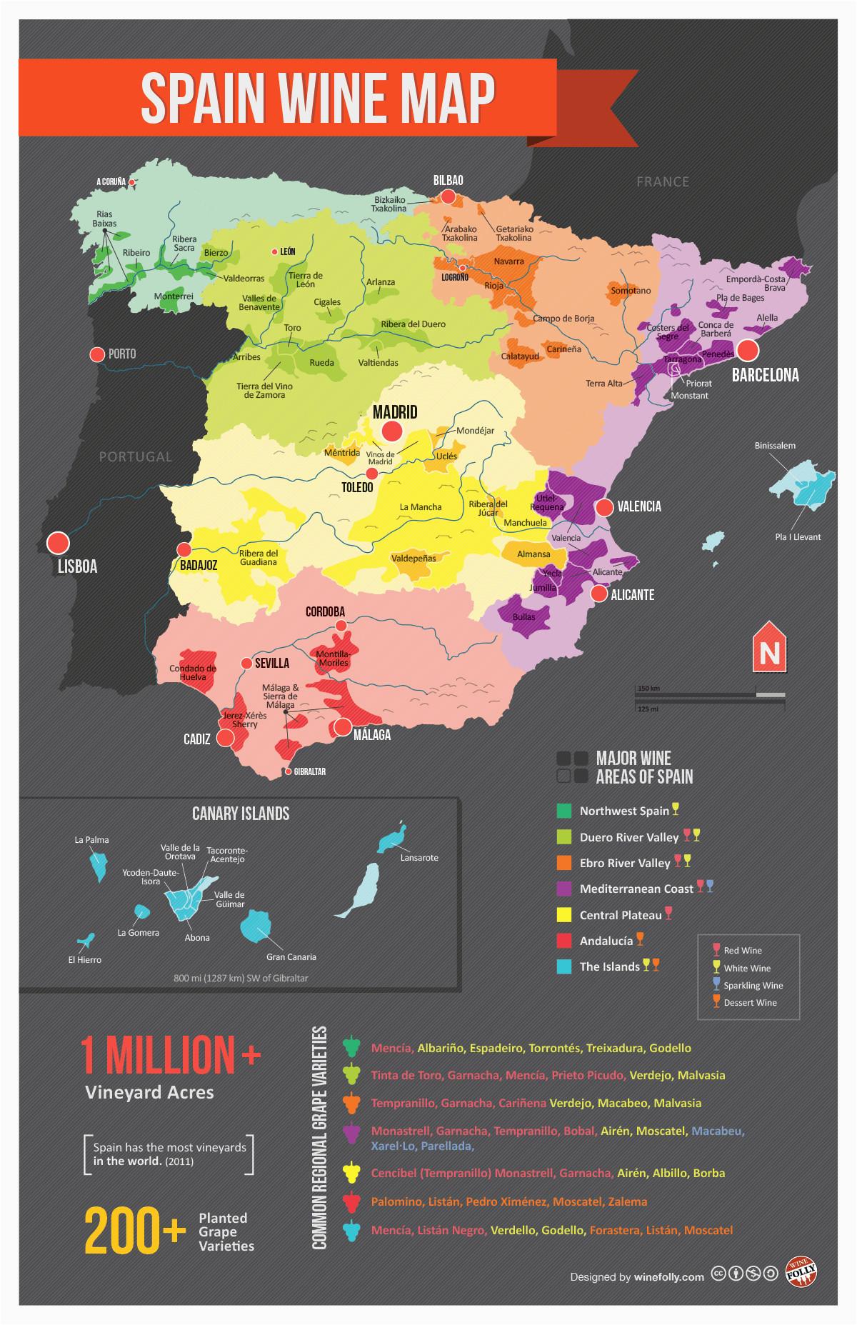 Maps Of Spain Regions Map Of Spanish Wine Regions Via Reddit Spain Map Of