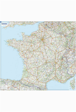 Michelin Road Map France France Laminated Wall Map 111 X 100 Cm Michelin Maptogo