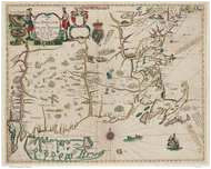 Old New England Maps New England 1675 Old Map Reprint Seller Colonial New England