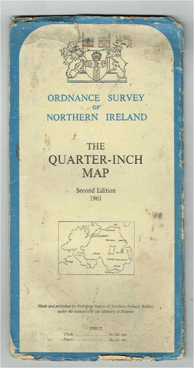Ordnance Survey Map northern Ireland Johns Bookshop ordnance Survey Of northern Ireland