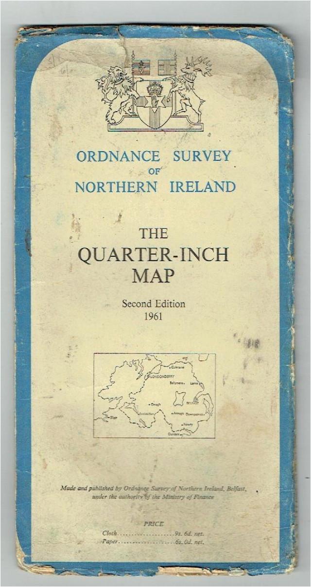 Os Map northern Ireland Johns Bookshop ordnance Survey Of northern Ireland