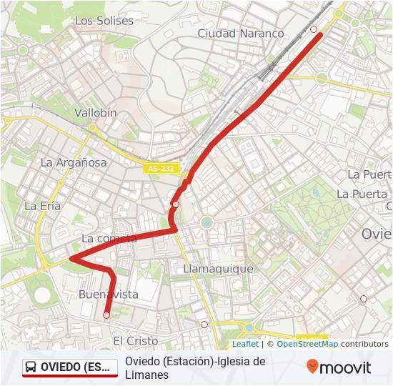 Oviedo Spain Map Oviedo Estacia N Iglesia De Limanes Route Time Schedules