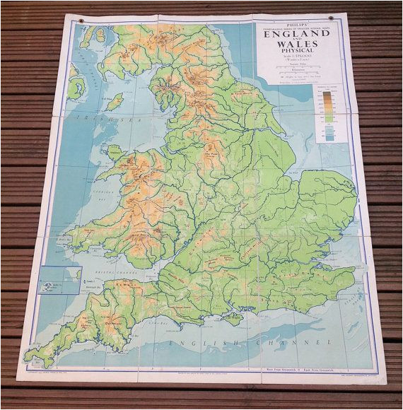 Physical Map Of England England and Wales Physical Map Philips by Wafflesandsprout