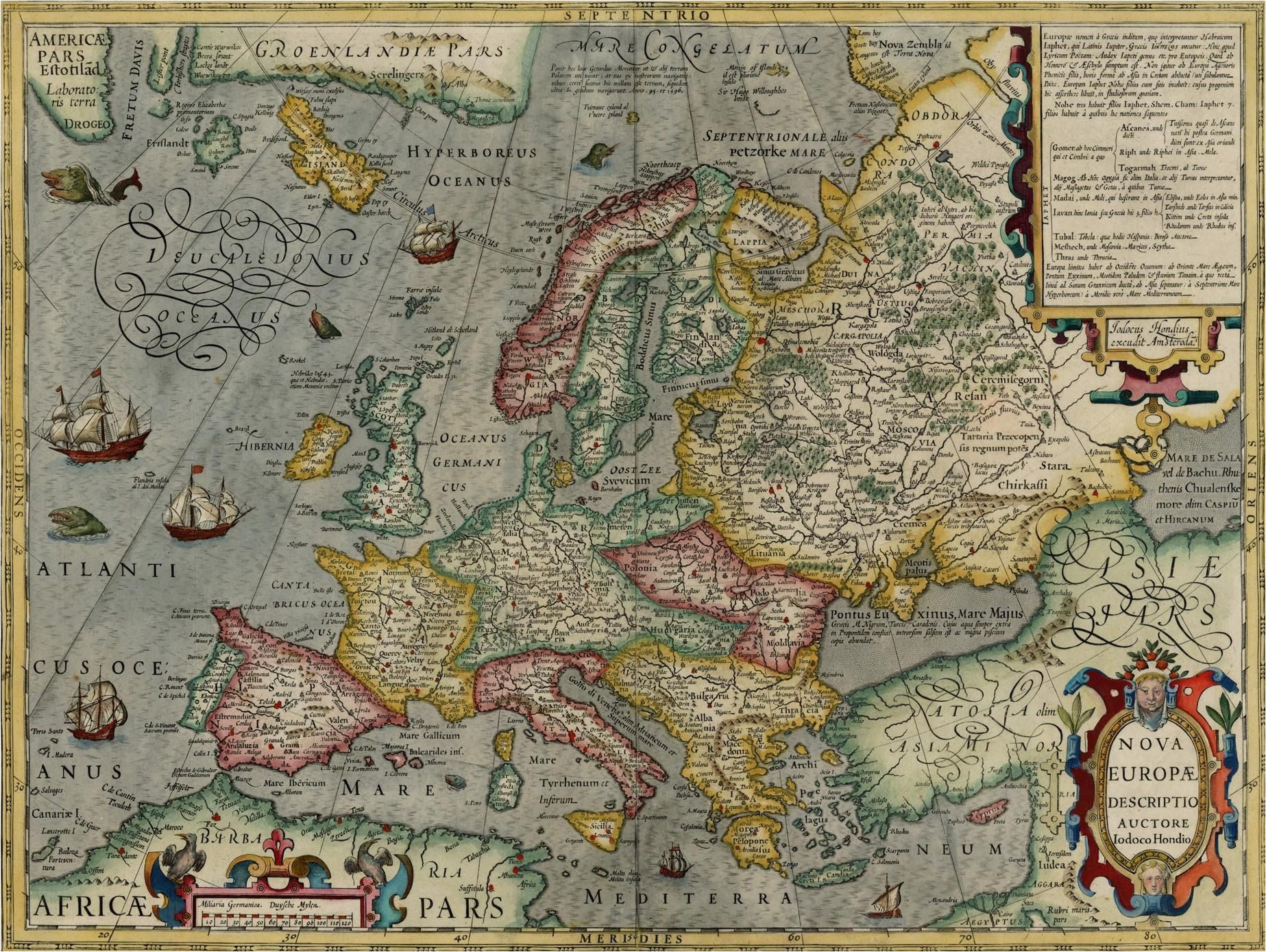Picardy France Map Map Of Europe by Jodocus Hondius 1630 the Map Shows A Massive