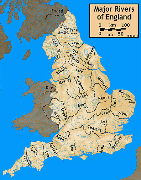 Rivers Of England Map Longest Rivers Of the United Kingdom Revolvy