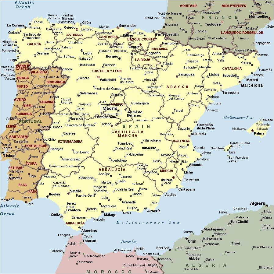 Road Map Of Spain and Portugal Mapa Espaa A Fera Alog In 2019 Map Of Spain Map Spain Travel