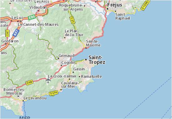 Saint Tropez France Map Saint Tropez Map Detailed Maps for the City Of Saint Tropez
