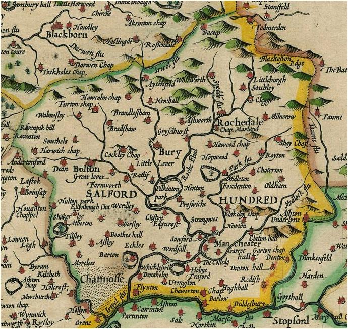 Salford England Map Salford Hundred Wikipedia