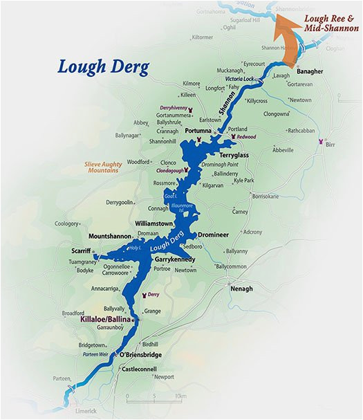 Shannon River Ireland Map Hire A Cruiser On Lough Derg Explore the Shannon In Autumn