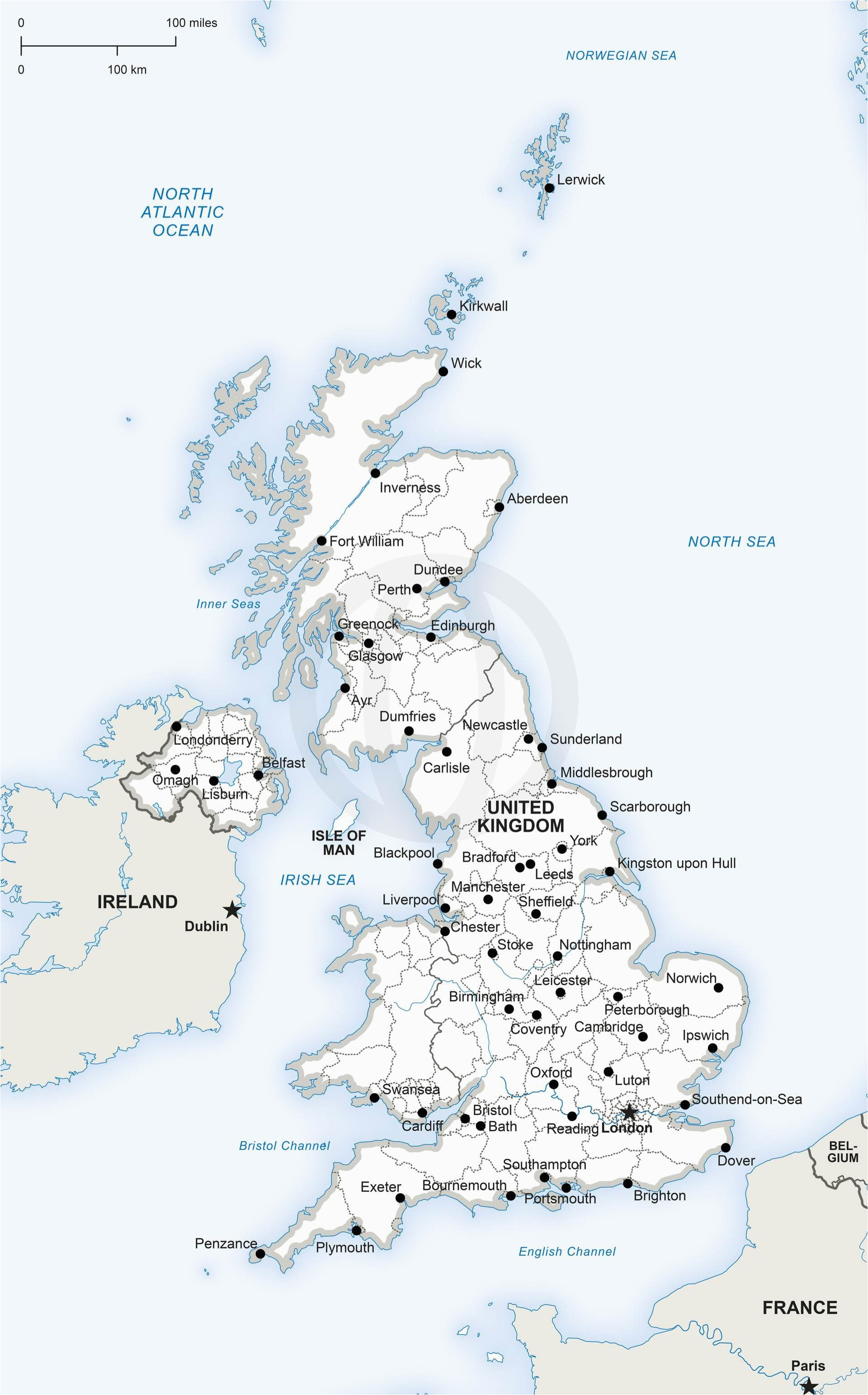 Show Map Of England Map Of United Kingdom Political Digital Vector Maps Map Vector