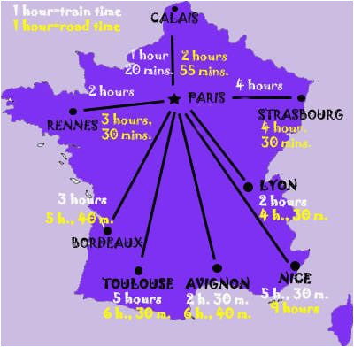 South Of France Train Map France Maps for Rail Paris attractions and Distance France