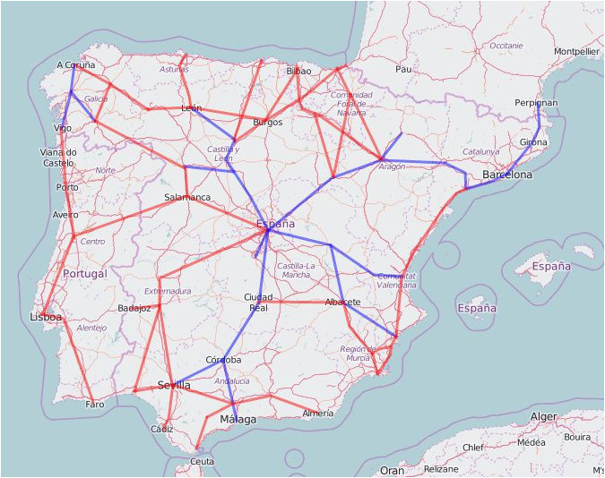 Spain Ave Train Map Rail Map Of Spain and Portugal