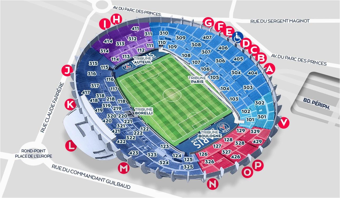 Stade De France Seat Map Stadium Map Paris Saint Germain