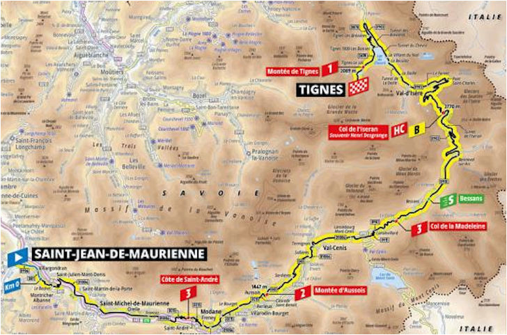 Tour De France Stage 19 Route Map A 2019 Es tour De France Aotvonala Terkepek Szintrajzok Flowcycle
