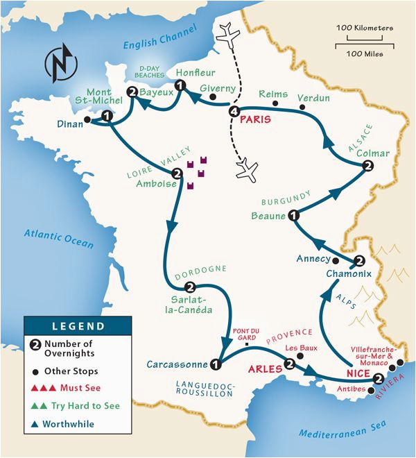 Touring Map Of France France Itinerary where to Go In France by Rick Steves
