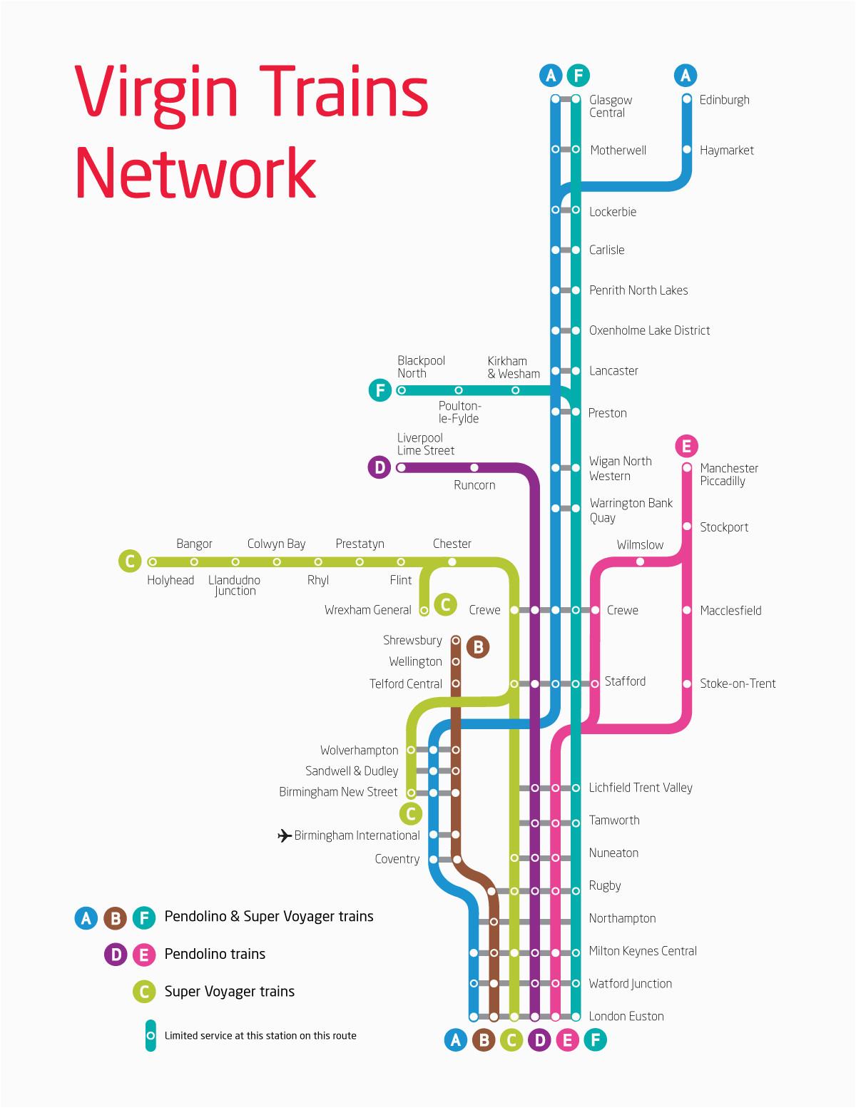 Trains England Map Virgin Trains Uk Route Map Smart Transit Train Map Train