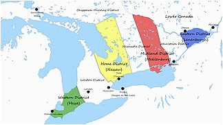 Upper Canada Lower Canada Map Upper Canada Wikipedia
