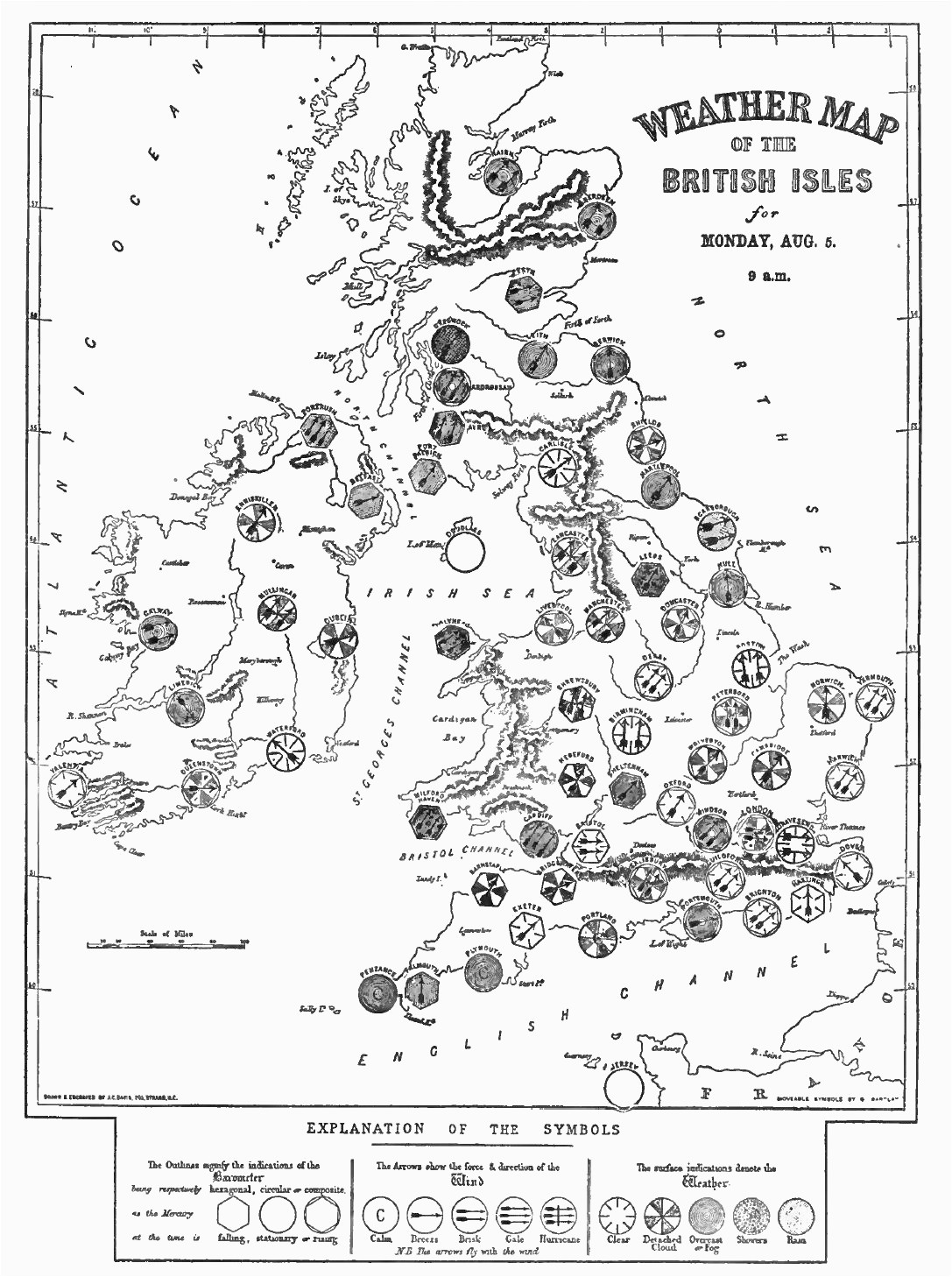 Weather Map Of England Distant Writing the Companies and the Weather