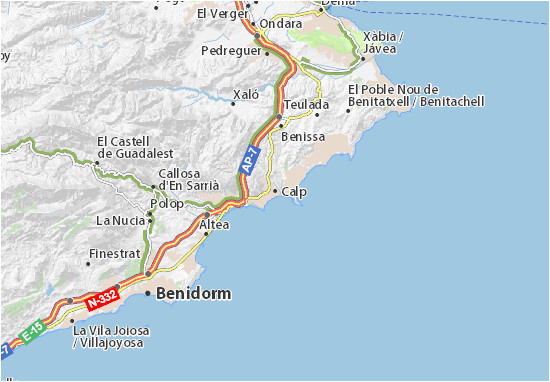Where is Calpe In Spain On Map Map Of Calp Michelin Calp Map Viamichelin