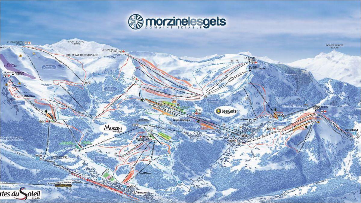 Where is Morzine In France Map Maps Piste Maps Of Morzine France Morznet Com