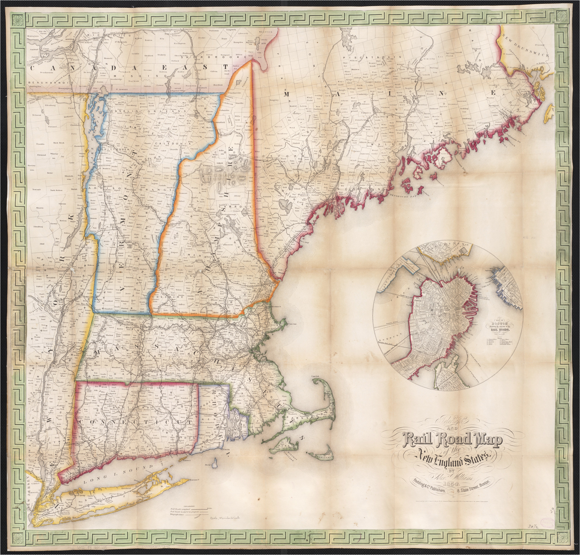 Where is New England Located On the Map File Telegraph and Rail Road Map Of the New England States