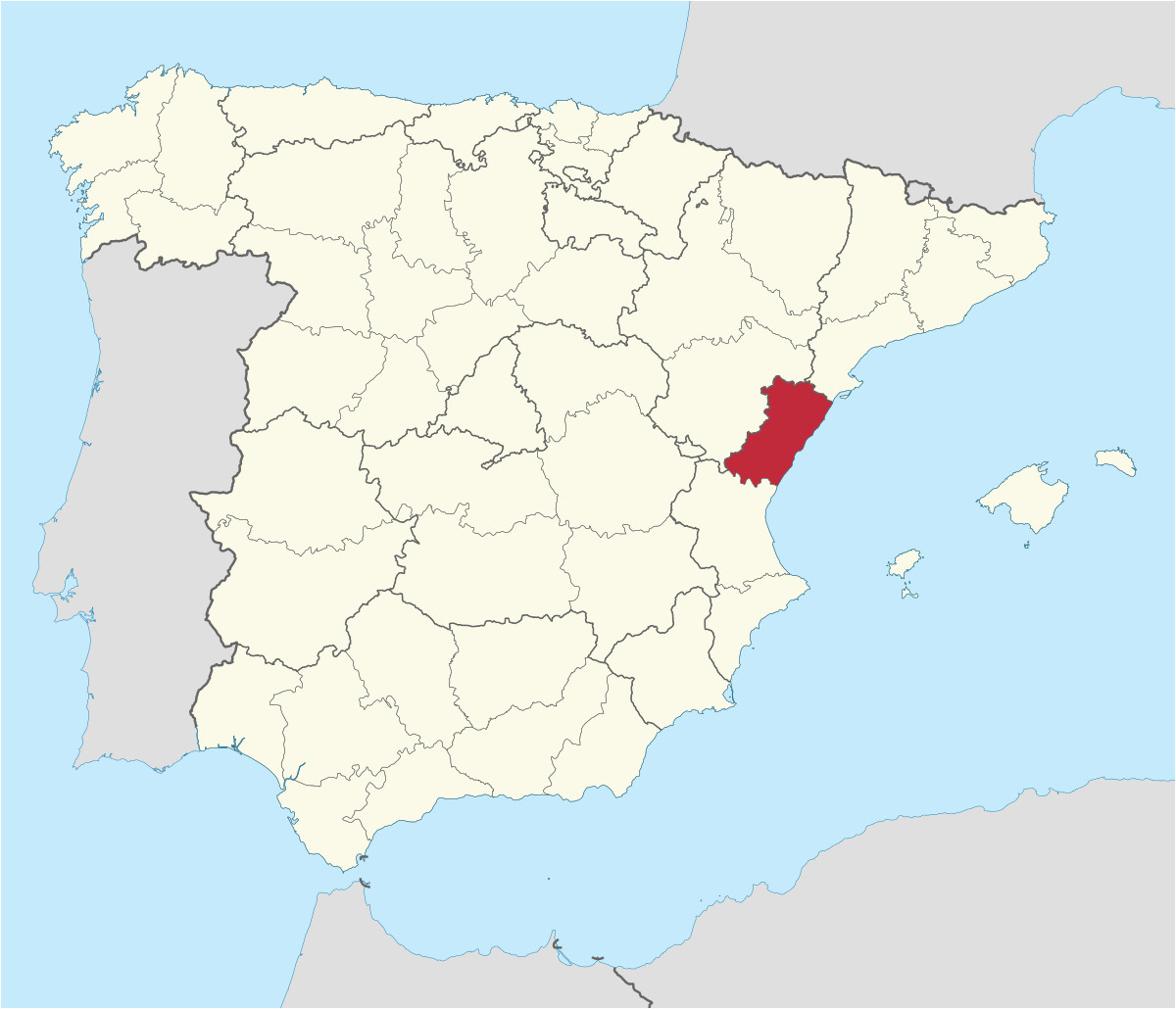 Where is Valencia In Spain Map Province Of Castella N Wikipedia