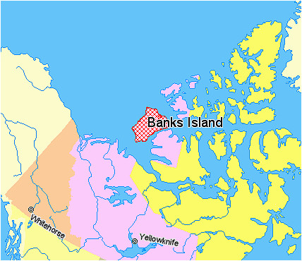 Where is Whitehorse Canada On A Map File Map Indicating Banks island northwest Territories