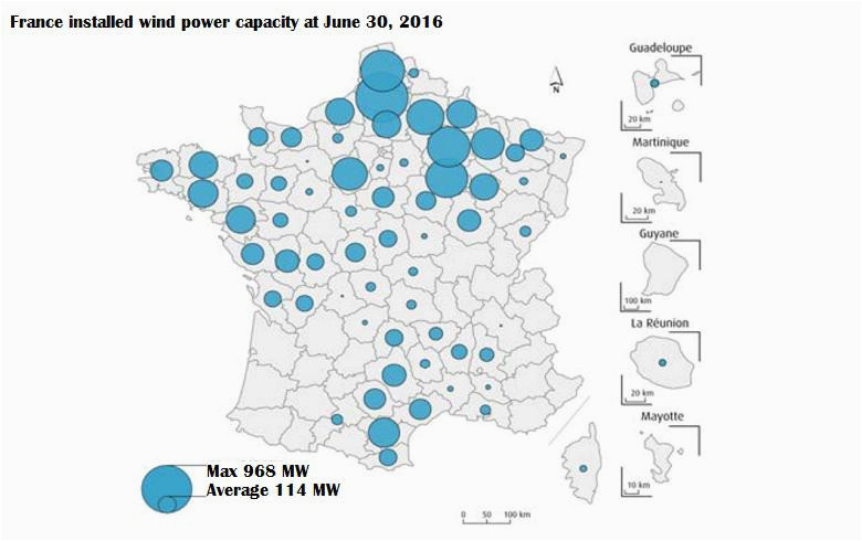 Wind Map France French Wind Farms Increase Generation by 21