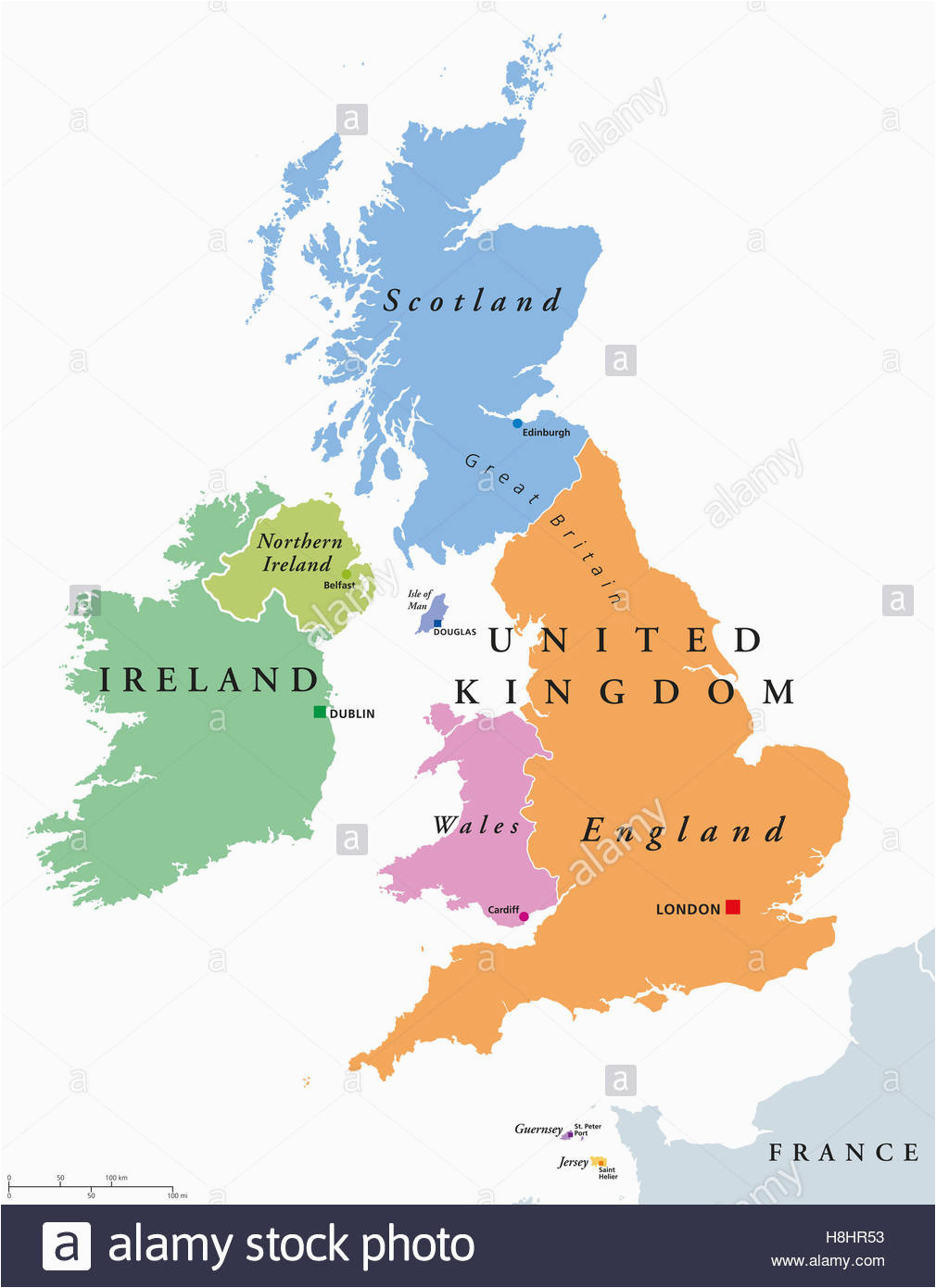 World Map Ireland Scotland Ireland Map Stock Photos Ireland Map Stock Images Alamy
