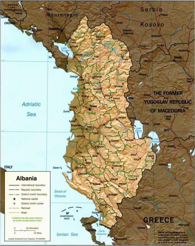 Albania On Map Of Europe Map Of Albania Albania Albania Albania Travel Visit