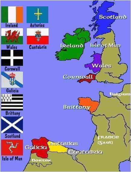 Celtic Map Of Europe Map Of the Celtic Nations Of Europe Maps Celtic Nations
