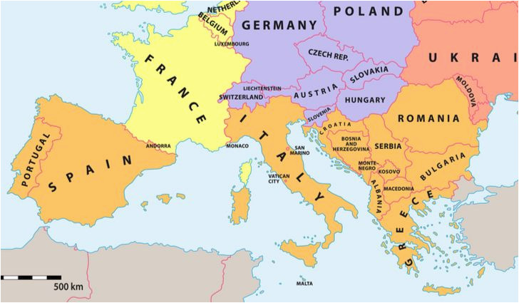 Croatia In Europe Map which Countries Make Up southern Europe Worldatlas Com