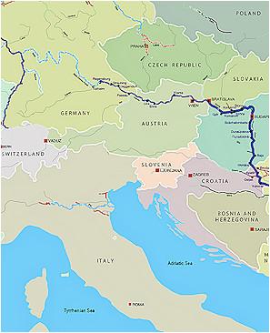 Danube River Europe Map Danube Map Danube River byzantine Roman and Medieval