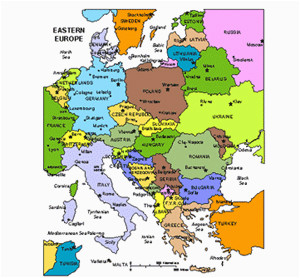 Eastern Europe Map with Capitals 25 Categorical Map Of Eastern Europe and Capitals