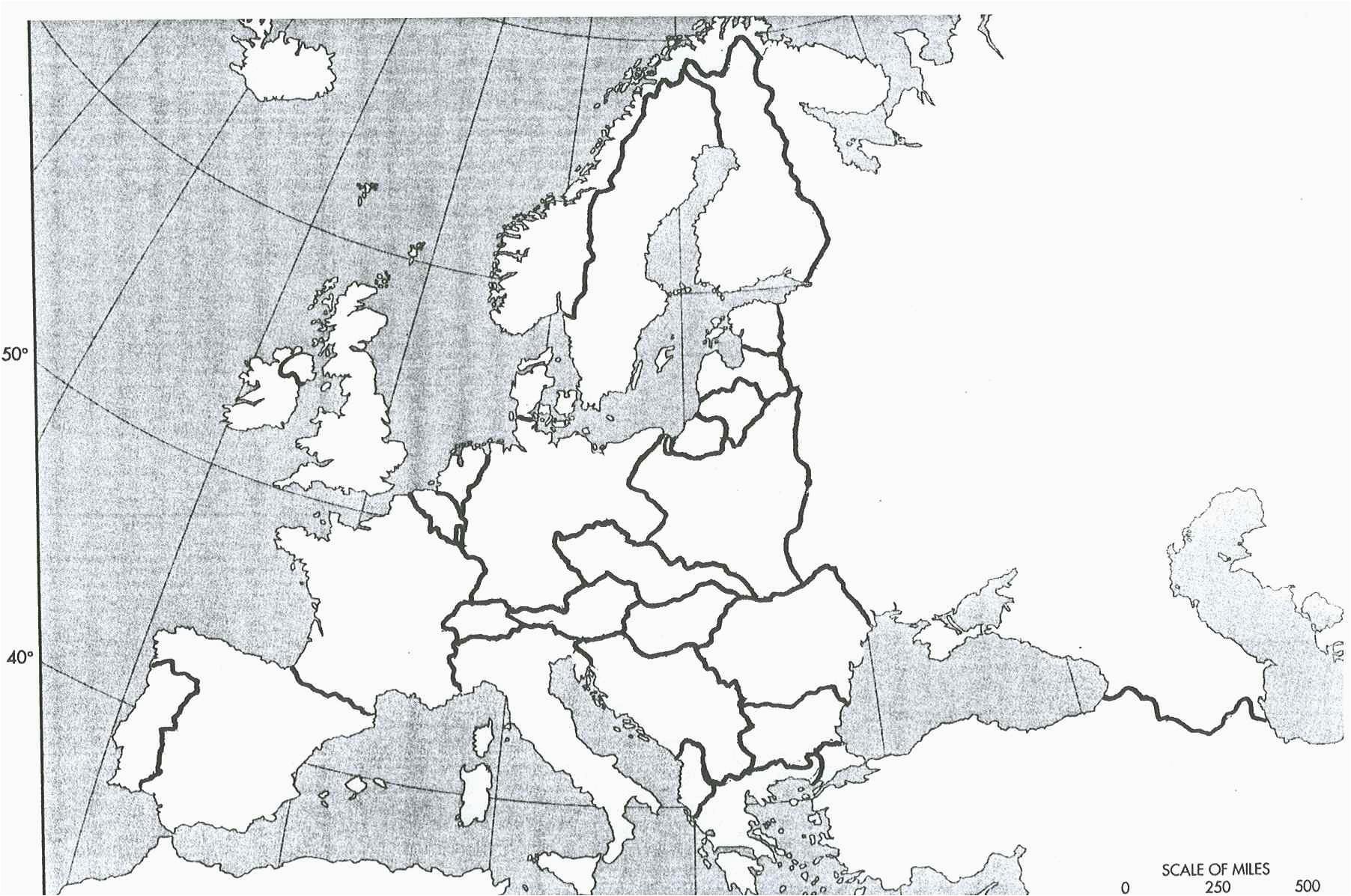 Europe 1919 Blank Map History 464 Europe since 1914 Unlv