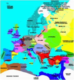 Europe Map 1200 atlas Of European History Wikimedia Commons