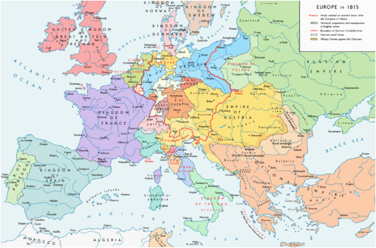 Europe Map without Country Names former Countries In Europe after 1815 Wikipedia